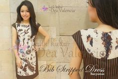 love the style and fitting Batik Fashion, Folk Fashion, Diy Fashion, Blouse Batik, Batik Dress, Traditional Fabric, Traditional Outfits, Batik Kebaya, Stripped Dress
