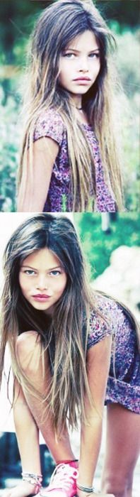 10 year old french beauty Thylane Lena-Rose Blondeau. I am mesmerised by this child.