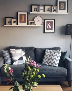 Submitted by with the Copenhagen sofa, 2 seater My Living Room, Home And Living, Living Room Decor, Valspar Paint Colors, Paint Colours, Living Room Inspiration, House Painting, Interior Design, Interior Ideas