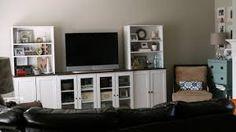 white entertainment, storage idea