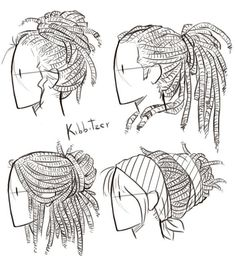 Dreadlocks Reference Sheet by Kibbitzer on DeviantArt:
