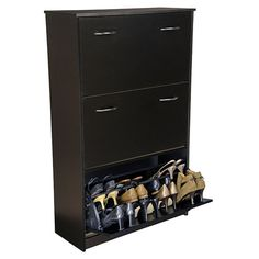Found it at Wayfair - VHZ Storage Triple Shoe Cabinet in Black