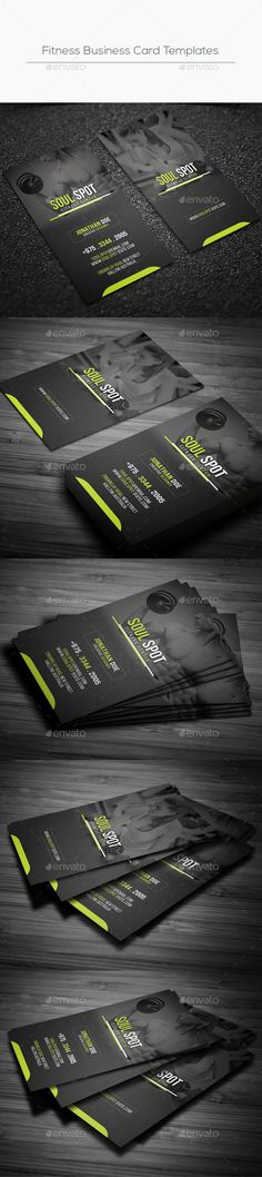 Fitness Business Card Template PSD. Download here: http://graphicriver.net/item/fitness-business-card-templates/16427866?ref=ksioks