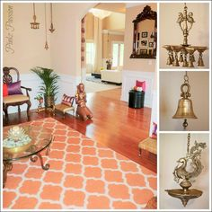 Pinkz Passion : Royale Rama Home Tour – Part 2 – İndian Living Rooms Ethnic Home Decor, Indian Home Decor, Indian Inspired Decor, Indian Interior Design, Indian Interiors, Indian Living Rooms, Indian Furniture, Furniture Ideas, Indian Homes
