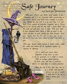 Safe Journey - Book of Shadows spell page by steelgoddess via Etsy