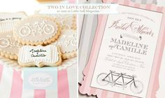 Cute #invitation and desserts for #bridal #shower.