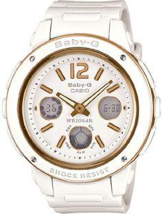 Casio Baby-G wide dial big face design analog-digital watch white G Watch, Casio Watch, Baby G Shock, Jones Baby, Style Feminin, Big Face, Casio G Shock, Face Design, Casual Watches