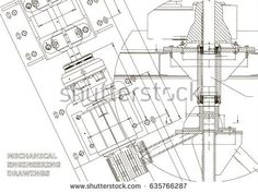 Blueprints. Mechanical engineering drawings. Technical Design. Cover. Banner. White    #bubushonok #art #bubushonokart #design #vector #shutterstock  #technical #engineering #drawing #blueprint   #technology #mechanism #draw #industry #construction #cad