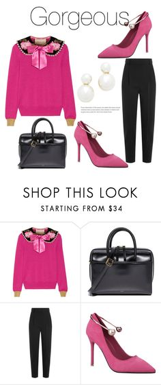 """""""535"""" by meldiana ❤ liked on Polyvore featuring Gucci, Vasic, Alexander McQueen and Rebecca Minkoff"""
