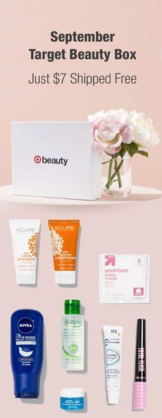 September Target Beauty Box (2 Options) now available: https://www.dealsplus.com/Health-and-Beauty-Supplies_deals/p_target-beauty-box-september?utm_content=bufferf3dbd&utm_medium=social&utm_source=pinterest.com&utm_campaign=buffer