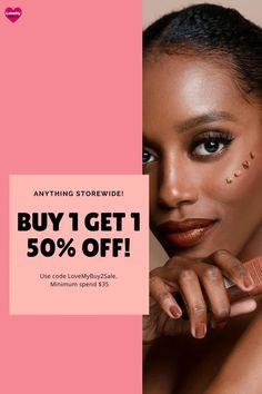 Buy 1 Get 1 50% OFF at LoveMy Makeup NZ Makeup Cosmetics, Beauty Makeup, Rimmel, Maybelline, Nyx, Online Makeup Stores, Buy 1 Get 1, Girls Makeup, Products