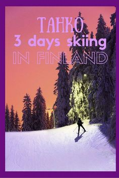 Have you ever thought of skiing in Finland? Tahko is the perfect place for beginners and families! Here are some amazing pictures of Tahko and all the winter activities you can do there.: