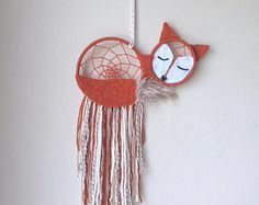Sleeping Fox wall hanging