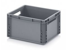 20 Litre Small Euro Plastics Stacking Container - Stackable Straight Sided Storage Box