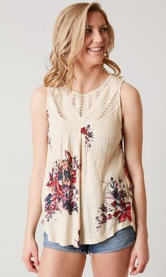 Lucky Brand Floral Tank - Women's Clothing | Buckle