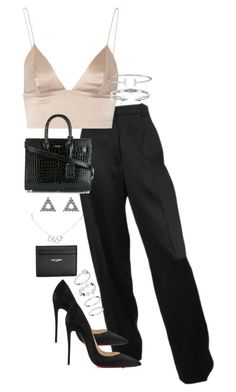 """""""Untitled #4991"""" by theeuropeancloset ❤ liked on Polyvore featuring T By Alexander Wang, Vita Fede, Christian Louboutin, Yves Saint Laurent, Christian Dior and H&M"""