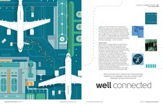 Illustration from Arunas Kacinskas, commissioned for June 2013 Passenger Terminal World magazine (feature on improving flight connections) http://yellowcardas.tumblr.com/