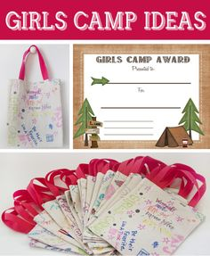Girls camp ideas and free printables