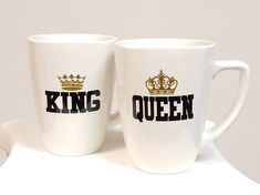 King and Queen His and Hers mugs