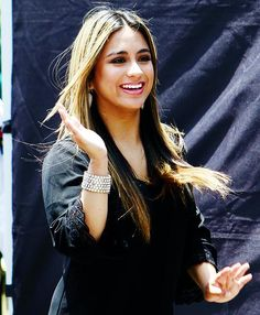 Ally today at Extra TV (via Ally Brooke, Fifth Harmony Ally, Jane Hansen, Dinah Jane, Selena Quintanilla, Girl Bands, Love Her, Singer, Girls