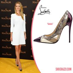 Rosie Huntington-Whiteley in Christian Louboutin Galata PVC and Patent Leather Pumps - ShoeRazzi