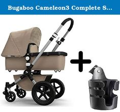 Bugaboo Cameleon3 Complete Stroller 2015, Sand (Classic Collection) + Bugaboo Cup Holder. The Bugaboo Cameleon³ Classic Collection combines elegance and sophistication for the timeless look that makes a true classic. Both the base fabrics and tailored fabric sets in Sand feature an off-white micro-fleece quilted interior lining on the extendable sun canopy, bassinet, mattress and apron. Sand-colored accessories compliment the standard-frame stroller: foot muff and parasol. The Bugaboo...