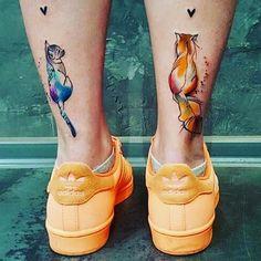 Admit, this tattoos are beautiful! #potti#cat#tattoos#cattattoos#love