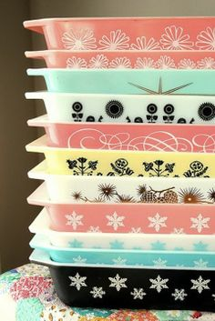 pyrex!!!!!!!!!! I have the blue one with snowflakes! I think I may start collecting these. I love the look and they're so handy!
