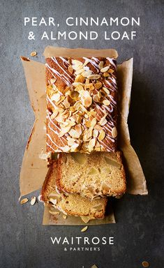Try our loaf cake filled with sweet pears and a hint of spice. For a crunchy top, sprinkle some demerera sugar over the loaf before placing it in the oven. Tap for the full Waitrose & Partners recipe. Baking Recipes, Cake Recipes, Pear Loaf Recipes, Pear Dessert Recipes, Bake Sale Recipes, Banana Bread Recipes, Cinnamon Almonds, Cinnamon Loaf, Cinnamon Coffee
