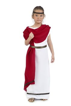 Disfraz de aristócrata romana para niña   Comprar