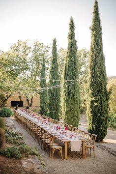 Long Table Wedding, Wedding Reception Flowers, Wedding Weekend, Wedding Bells, Maroon Wedding, Rose Wedding, Dream Wedding, French Wedding, Gite Rural