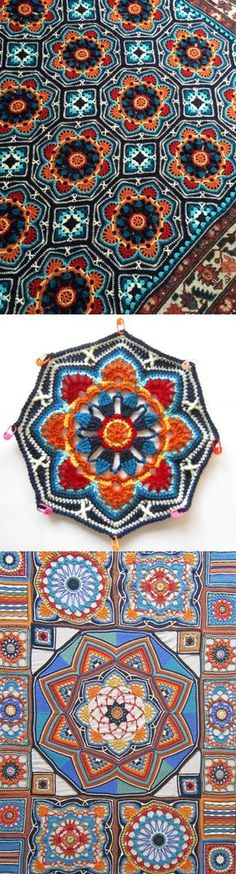 Crochet Patterns Mandala...♥ Deniz ♥ Now to figure out the Pattern in English!