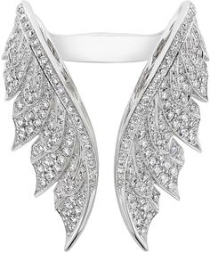 Stephen Webster Magnipheasant White Diamond Open Wing Ring                                                                                                                                                      More