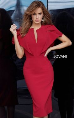 Jovani 00759 Dress - Madamebridal.com Elegant Dresses For Women, Simple Dresses, Beautiful Dresses, Short Sleeve Dresses, Elegant Dresses Classy, Elegant Clothing, Party Dresses For Women, Club Dresses, Nice Dresses