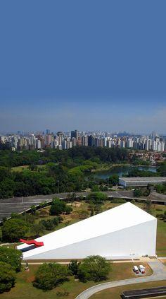 Auditório Ibirapuera Concerto Hall, por arquiteto brasileiro Oscar Niemeyer São Paulo, Brasil