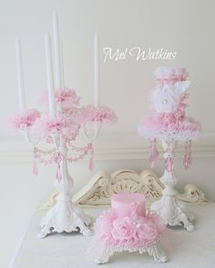 pink shabby candelabra - Google Search