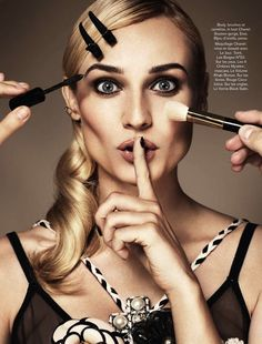 Diane Kruger in Chanel for Glamour Paris 2013 #makeup