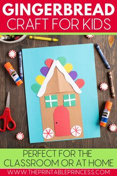Nothing says December quite like gingerbread houses. Ditch the sticky mess with a DIY Gingerbread House Craft that's perfect for the holiday season.  You can complete this craft as a whole group, a rotation station, or even at home. This activity is great to strengthen fine motor skills of your Pre-K and Kindergarten students, but it also encourages students to listen and follow directions.