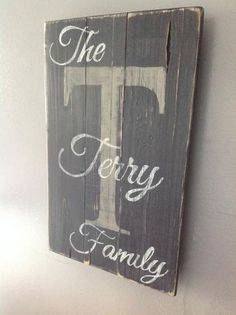 Personalized wood sign, painted black with white lettering and cream back letter. Sealed for protection. 16 1/2 x 10 This sign is sold as pictured if you would like other color options please email me