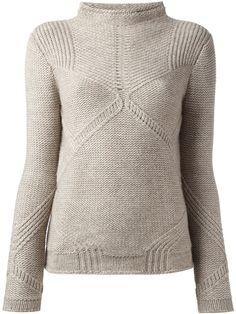 Helmut Lang Linear Transfer Sweater in Beige (nude & neutrals) | Lyst