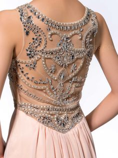 Gorgeous A-Line Scoop Beading Sweep Evening Dress Evening Dresses 2014- ericdress.com 10984059