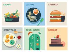 """dribbblepopular:  """"Global Cuisine http://ift.tt/2oAgt1u  """""""