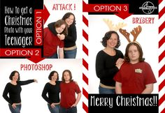 How to get a Christmas Photo with your Teenager
