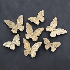 Gold Butterfly Wall Hangings Vintage Syroco Set of Three | VINTAGE ...
