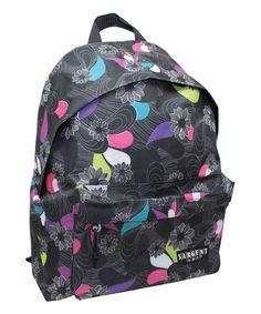 Look at this #zulilyfind! Black Floral Backpack #zulilyfinds
