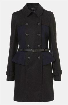 topshop @ nordstrom utilitarian coat