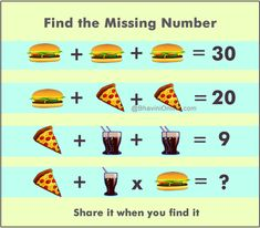 Picture Riddle: Find the Missing Number From the Given Information Maths Times Tables, Brain Teasers With Answers, Galaxy Phone Wallpaper, Number Activities, Kindergarten Math Worksheets, Fun Math, Riddles, Missing Number, Social Networks