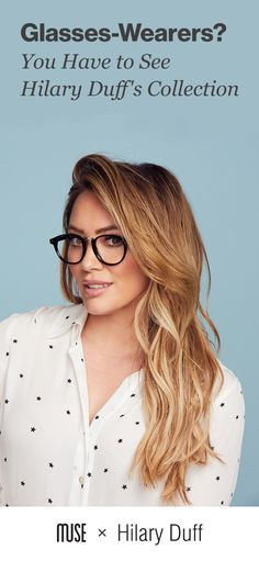 Hilary Duff just launched her new glasses collection. Find your perfect pair exclusively online, plu Emilia Clarke, Short Hair Styles, Natural Hair Styles, Hilary Duff, Blonde Balayage, The Duff, Dyed Hair, Wavy Hair, Hair Goals