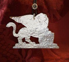 "Winged lion silver pendant ""LAGUNA"" series"
