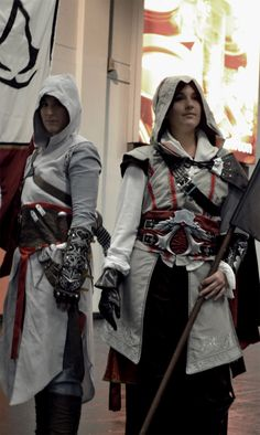 Me as Ezio and DarkyMoony as Altair at Gamescom 2013.